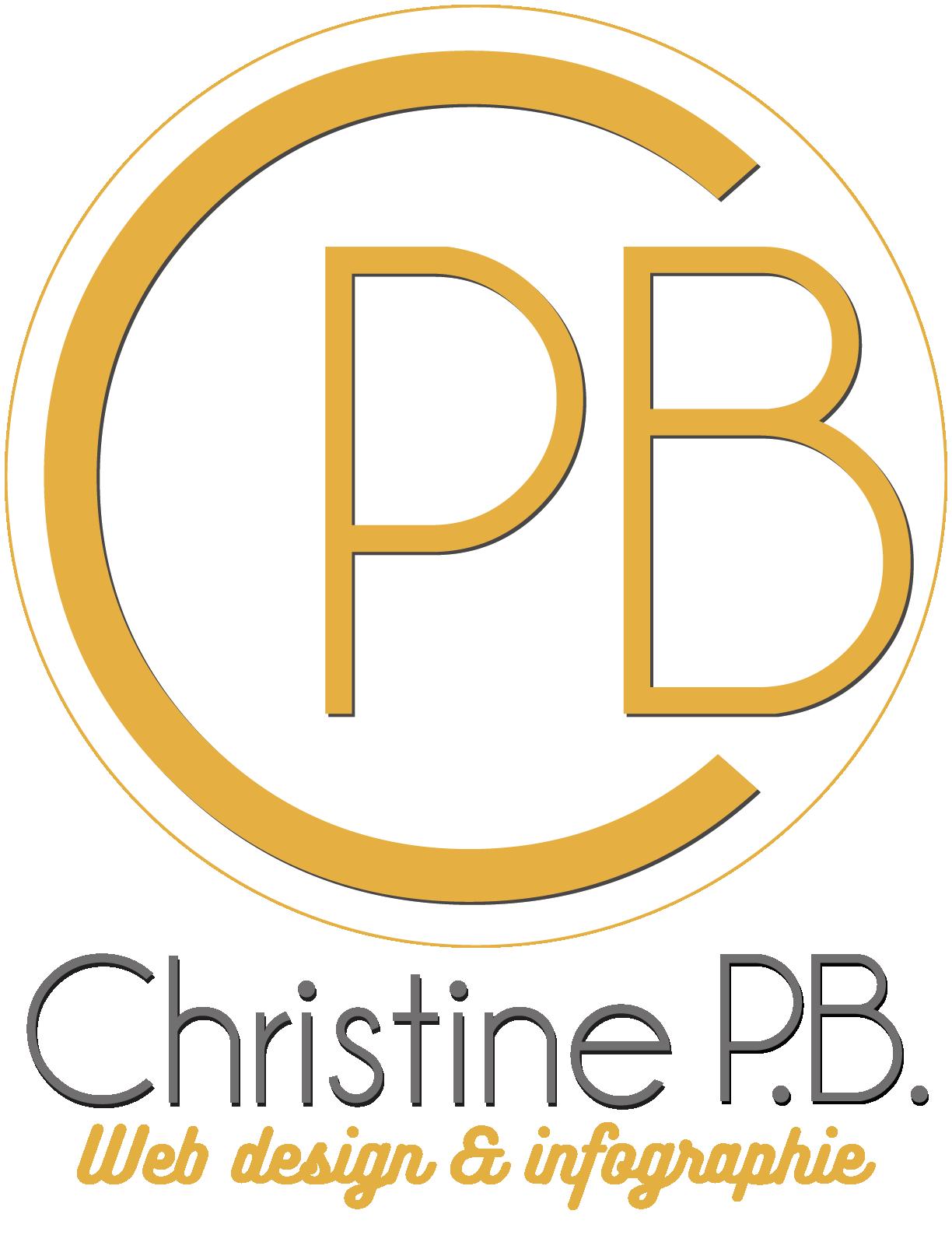 Cette image représente le logo de Christine PB web design & infographie